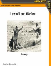 MS2- law of land warfare