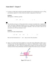 Home Work 7 Solutions