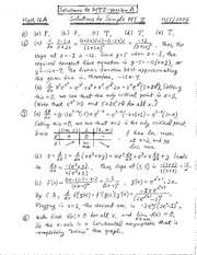 Sample MT2-A Solutions