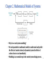 Chapter2 1 - Chapter 2 Mathematical Models of Systems
