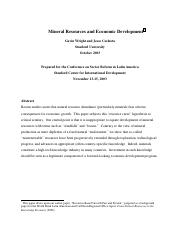 Mineral Resources and Economic development Stanford.pdf