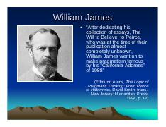essays on william james will to beleive This i believe is an international organization engaging people in writing and sharing essays describing the core values that guide their daily lives.