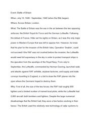 History 12 Battle of Britain notes