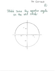 MATH 1112 Fall 2013 Negative Angles in Unit Circle Lecture Notes