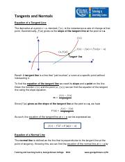 Tangent and Normal Lines 2