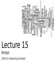 CSE115Lecture15Arrays-2D_Part02
