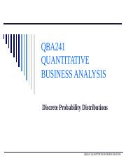 QBA241 - 5) Discrete Random Variable and Probability Distributions.pptx