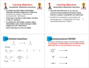 8 Substitution Reactions - 4 per page