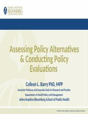 Lec 9_Assessing Policy Alternatives