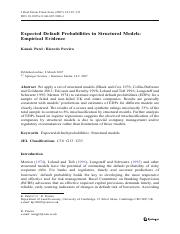 Expected Default Probabilities in Structural Models, Empirical Evidence.pdf