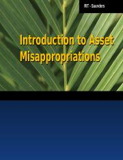 Introduction to Asset Misappropriation