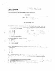 Review session 2 solutions