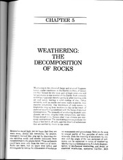 EAS 217 Press & Siever ch. 5 Weathering(1)