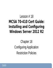 Chapter18Windows2012-70-410 ce