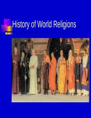 John Provost Lecture-History of Religions Intro