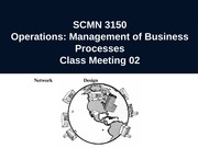 Operations: Management of Business Processes