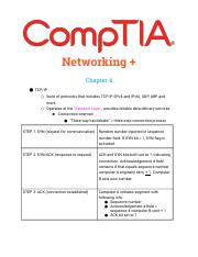 Networking+ Ch 4 Notes