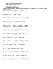 160331 redox worksheet key