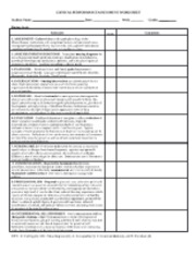 Comprehensive Care Plan Template