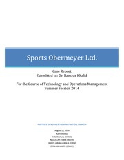 sport obermeyer case report Economics case study analysis discuss about obermeyer a skiwear manufacturer which is facing issues including its forecasting system and not able to predict the sales.