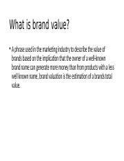 What is brand value.pptx