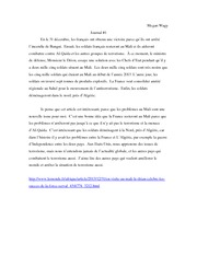 French Relations with Africa Essay  FRE 304w