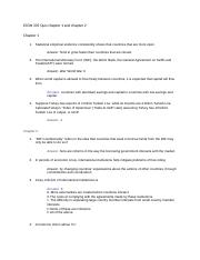 ECON 335 Quiz chapter 1 and chapter 2