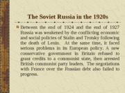 IV. The Soviet Russia in the 1920s