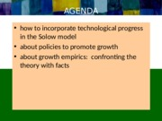 Technological Progress, the Solow Model, and Promoting Growth