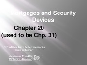Chapter 20 - Mortgages and Security Interests (2013) (post)