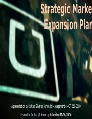 Strategic Market Expansion Plan
