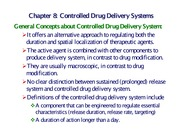 Chapter 8 Drug Delivery (One slide per page)
