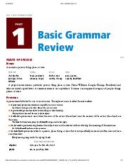 Creating Academic and Career Success - PART 1_ BASIC GRAMMAR REVIEW