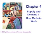 Ch 04 -Supply and Demand I --How Markets Work