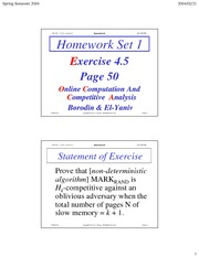 Homework I Solutions on Online Algorithms