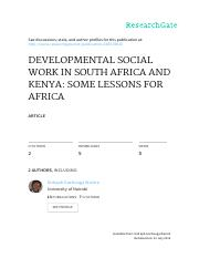 Wairire_Developmental social work in South Africa and Kenya  some lessons for Africa.pdf