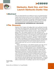 starbucks bank one and visa launch starbucks card duetto visa New york - october 13, 2003 - starbucks coffee company [nasdaq: sbux],  bank one [nyse: one] and visa usa today launched the.
