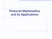 Financial Maths