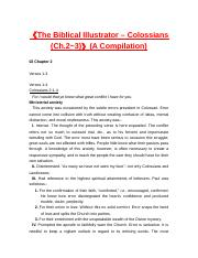 510112《The Biblical Illustrator – Colossians (Ch.2_3)》(A Compilation).doc