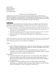IB Biology HL 2 Disease of the Gas Exchange System Research Essay