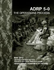 ADRP 5-0 The Operations Process