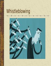 10. Whistleblowing