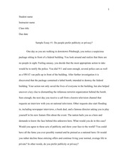 Sample Synthesis Essay 1