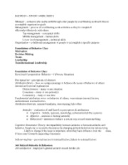 BADM310 � STUDY GUIDE PART 1