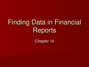14 - Finding Data in Financial Reports