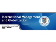 International Management and Globalization Chapter 3