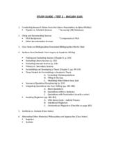1101 Test 2 Study Guide