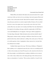 UW Conversation Essay Formal Draft