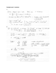 example exam solutions