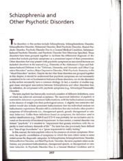 Schizophrenia and Other Psychotic Disorders pg297-315